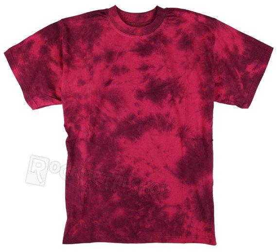 koszulka barwiona RUNNING BEAR / BORDO