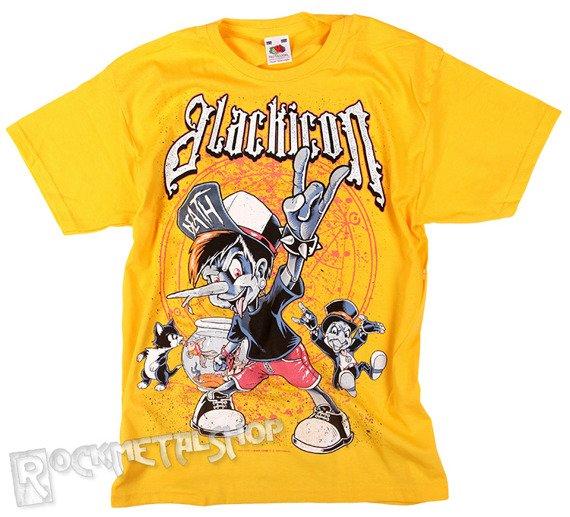 koszulka dziecięca BLACK ICON - PINOCHIO żółta