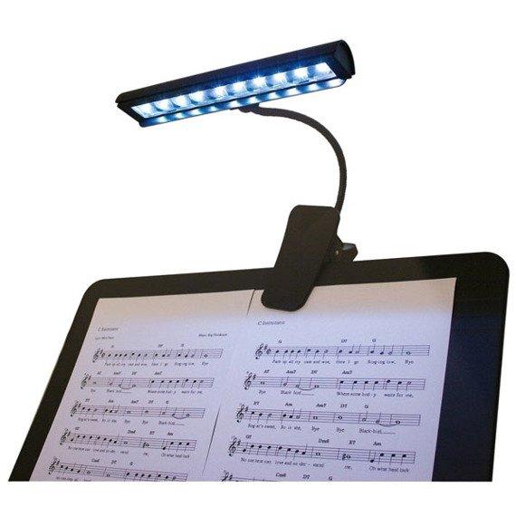 lampka GLEAM 9 x LED z klipsem - do czytania, do nut