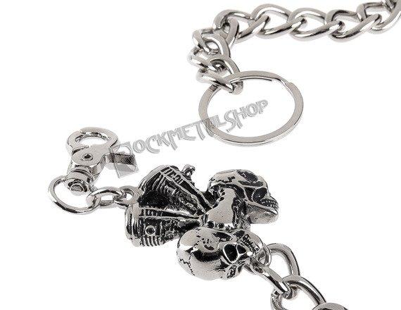 łańcuch do kluczy/portfela V-TWIN SKULLS