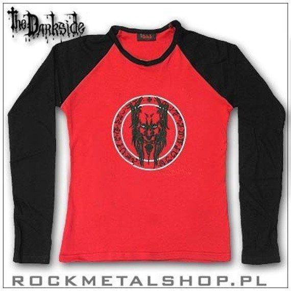 longsleeve dziewczęcy DEMON IN SPELL (czerwony, czarne rękawy), firma DARKSIDE