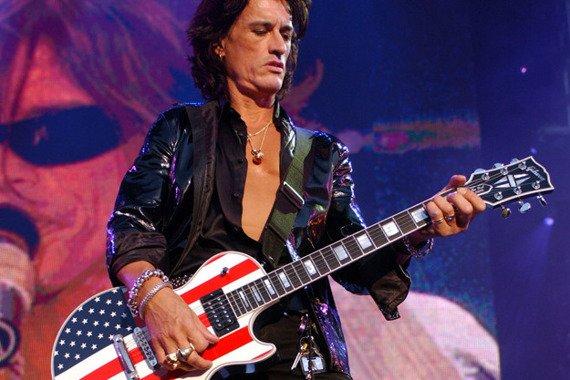 miniaturka gitary AEROSMITH - JOE PERRY: USA FLAG LES PAUL