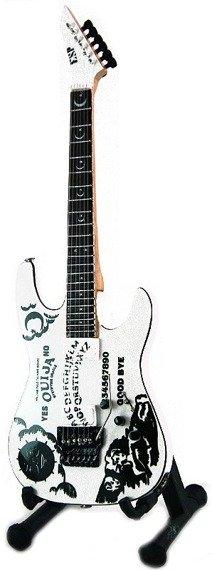 "miniaturka gitary METALLICA - KIRK HAMMETT: ESP KH-2B M-II ""OUIJA"" WHITE"