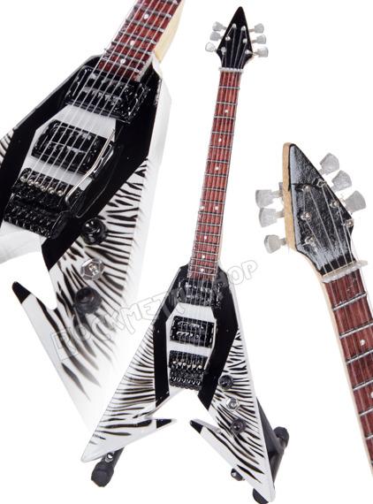 miniaturka gitary METALLICA - KIRK HAMMETT: PRS DEATH MAGNETIC white