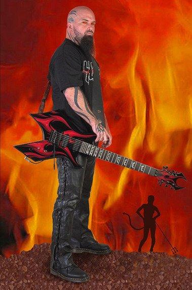 miniaturka gitary SLAYER - KERRY KING: BC RICH BEAST KK WARTRIBE