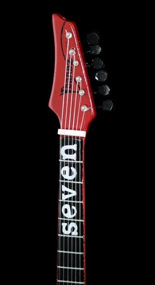 miniaturka gitary SLIPKNOT - MICK THOMPSON: IBANEZ MTM RED