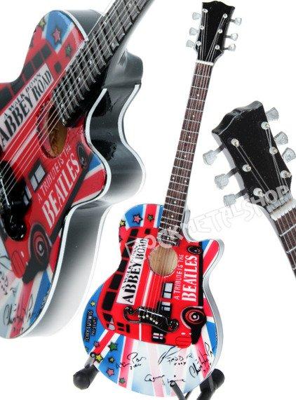 miniaturka gitary THE BEATLES - ABBEY ROAD ACOUSTIC