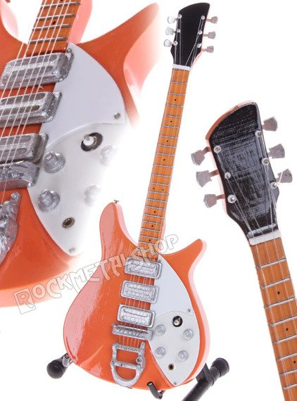 miniaturka gitary THE BEATLES - JOHN LENNON: RICKENBACKER 325 NATURAL '58