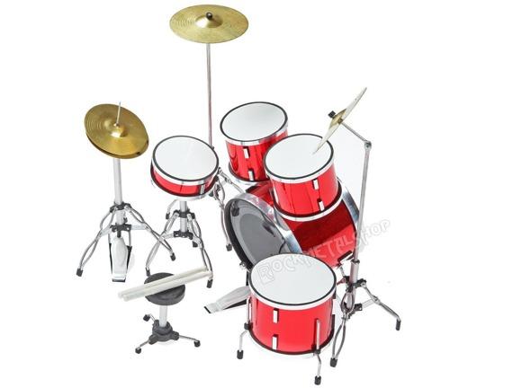 miniaturka perkusji METALLICA - PEARL RED