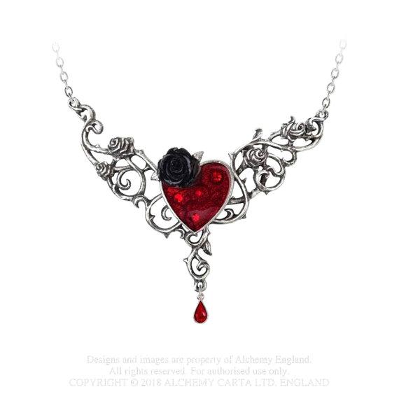 naszyjnik THE BLOOD ROSE HEART