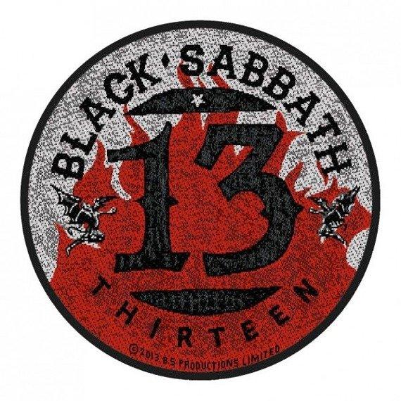 naszywka BLACK SABBATH - 13 / FLAMES CIRCULAR