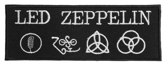 naszywka LED ZEPPELIN - LOGO WHITE