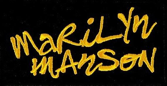 naszywka MARILYN MANSON - YELLOW LOGO