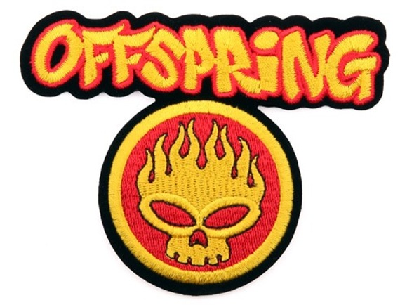 naszywka termiczna OFFSPRING - FLAMES SKULL (EP.200)