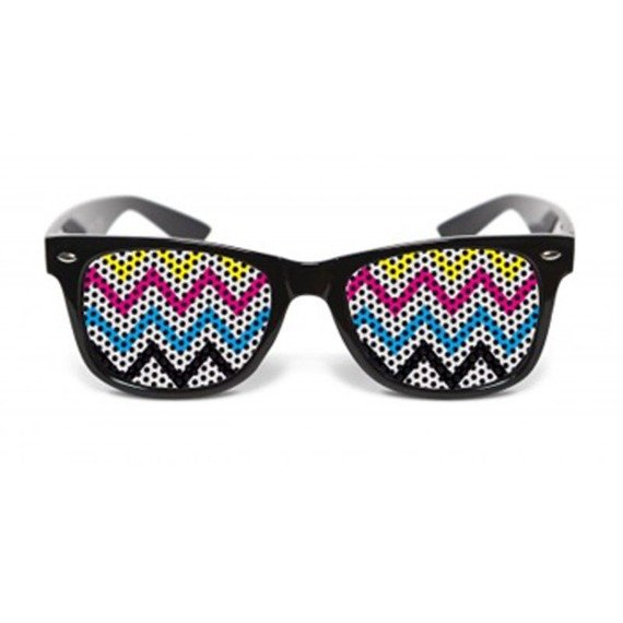 okulary NUNETTES - COLLECTION ZIGZAG BLACK