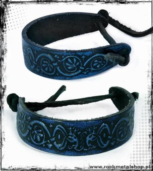 opaska na rękę wiązana 16mm TRIBAL blue