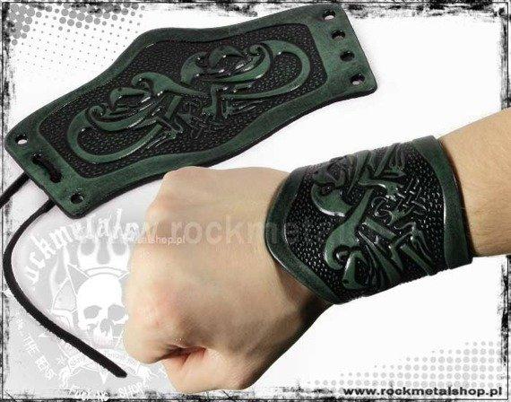 opaska na rękę wiązana 90mm HEAD EAGLE green