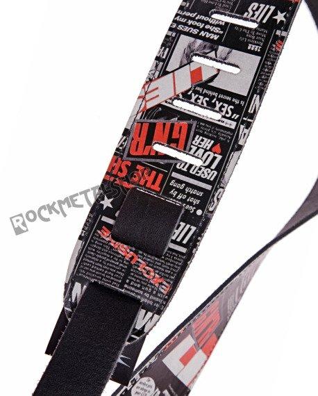pas do gitary GUNS N'ROSES - PRESS skórzany, 63mm