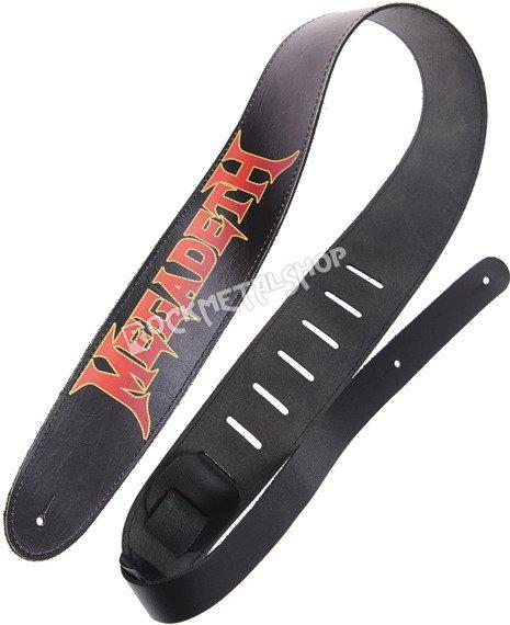 pas do gitary MEGADETH - RED LOGO skórzany, 63mm
