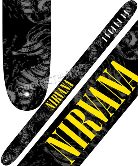 pas do gitary NIRVANA - SEAHORSE skórzany, 63mm