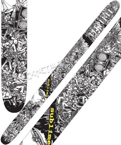 pas do gitary SUBLIME - LONG BEACH skórzany, 63mm