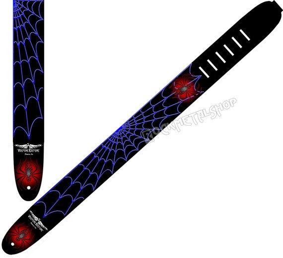 pas do gitary VULTURE KULTURE - SPIDER skórzany, 63mm
