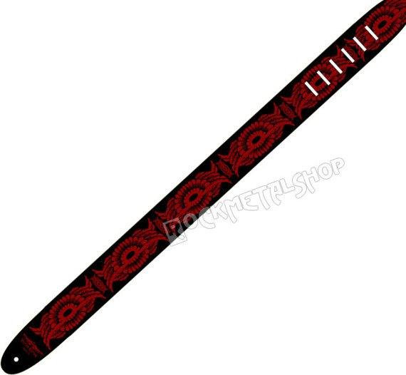 pas do gitary VULTURE KULTURE - WINGS RED DESIGN skórzany, 63mm