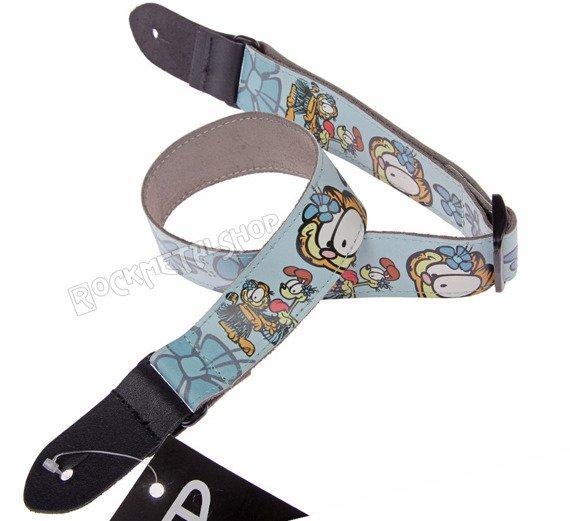 pas do ukulele GARFIELD & ODIE skórzany, 40mm