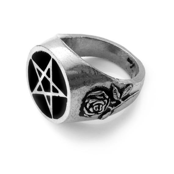 pierścień ROSEUS PENTAGRAM