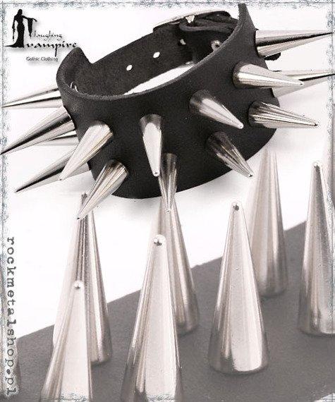 pieszczocha 2-rzędowa z ćwiekami CONE MEDIUM