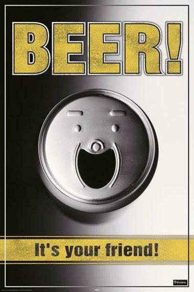 plakat BEER IS YOUR FRIEND