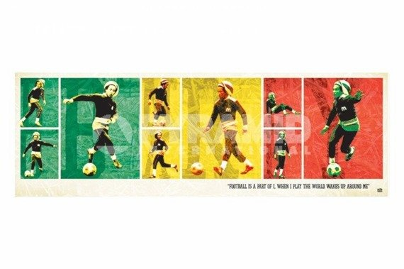 plakat BOB MARLEY - FOOTBALL
