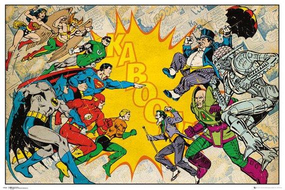 plakat DC COMICS - HEROES VS VILLAINS