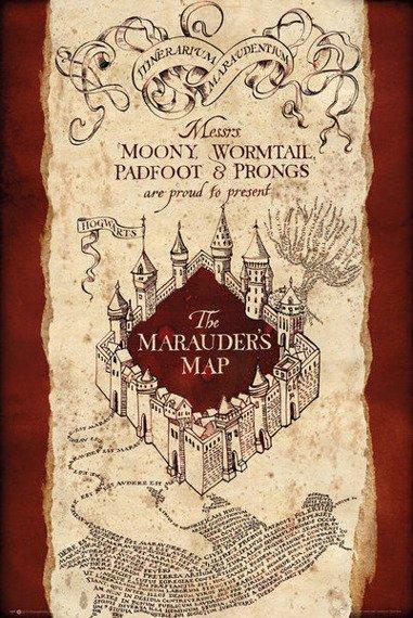 plakat HARRY POTTER -  MARAUDER'S MAP