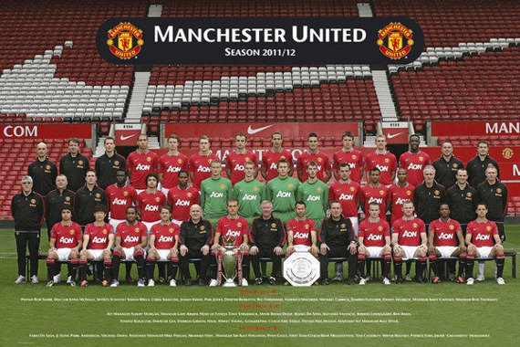 plakat MANCHESTER UNITED - TEAM PHOTO 11/12