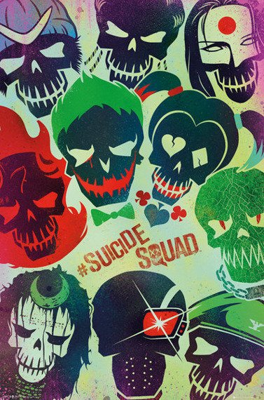 plakat SUICIDE SQUAD - FACES