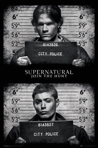 plakat SUPERNATURAL - MUG SHOTS