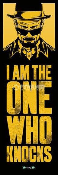plakat na drzwi BREAKING BAD - I AM THE ONE WHO KNOCKS