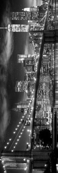 plakat panoramiczny NEW YORK - FREEDOM TOWER B&W