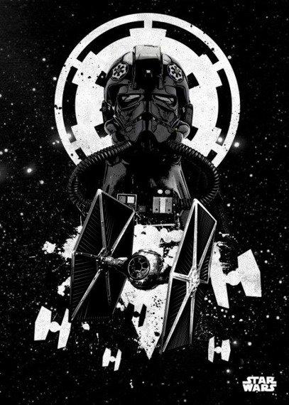 plakat z metalu STAR WARS - TIE FIGHTER PILOT