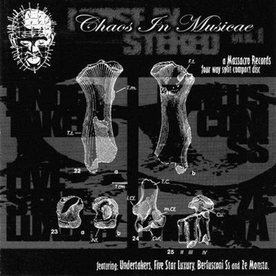 płyta CD: UNDERTAKERS / ZE MONSTA / FIVE STAR LUXURY / BERLUSCONI SS - NOISE IN STEREO VOL. I - CHAOS IN MUSICAE