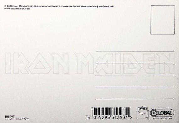 pocztówka IRON MAIDEN - THE NUMBER OF THE BEAST