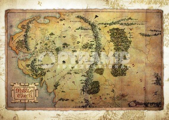 pocztówka THE HOBBIT - JOURNEY MAP