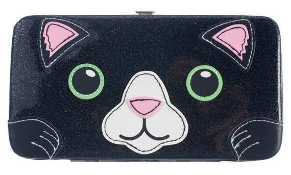 portfel FREAKS AND FRIENDS - CAT DINER GLITTER FACE