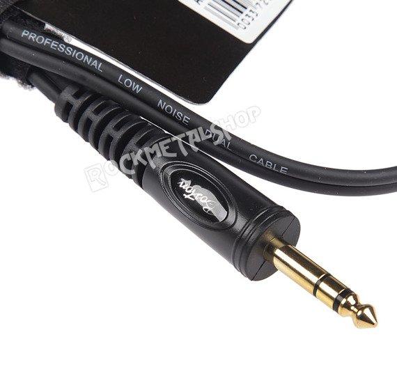 przewód audio BOSTON: 2 x DUŻY JACK MONO (6.3mm) - 1 x JACK STEREO (6,3mm) / 0,75m
