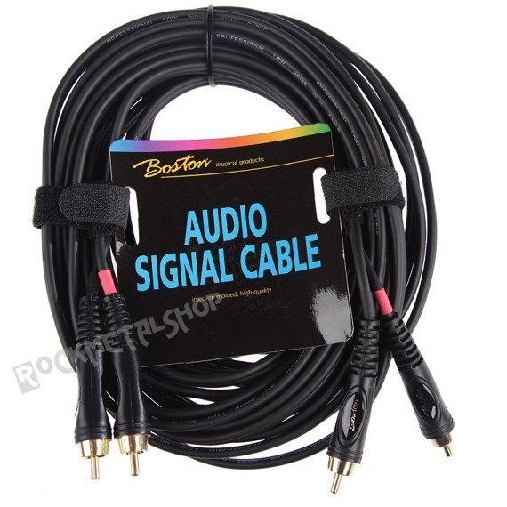 przewód audio BOSTON: 2 x RCA (cinch) - 2 x RCA (cinch) / 9m
