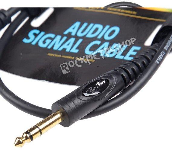 przewód audio BOSTON: JACK STEREO duży żeński -  JACK STEREO duży męski (6.3mm) / 0,75m