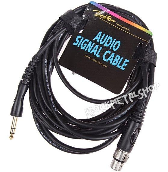 przewód audio BOSTON: XLR żeński -  DUŻY JACK STEREO (6.3mm) / 6m