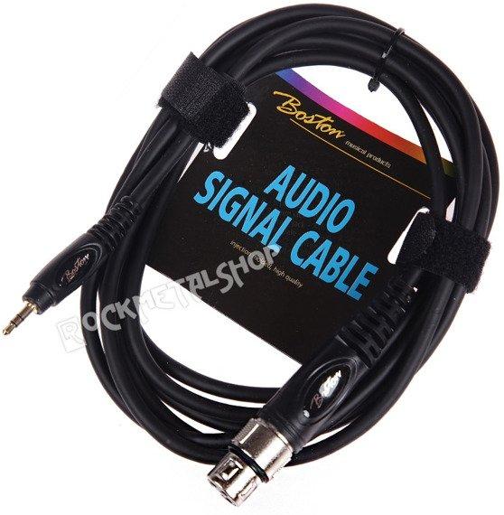 przewód audio BOSTON: XLR żeński -  mały JACK STEREO (3,5mm) / 3m