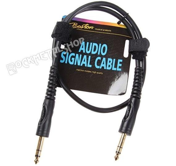 przewód audio BOSTON: duży JACK/JACK STEREO (6.3mm)  / 0,75m